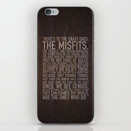 Here's to the crazy ones (Rust) by Brian Vegas iPhone Skin