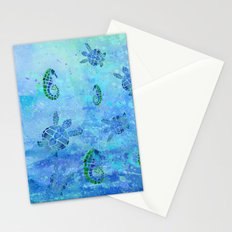 Sea Turtle Batik Stationery Cards