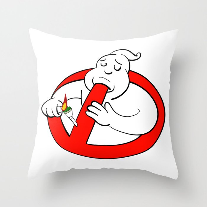 High-Busters (4/20 Edition) Throw Pillow