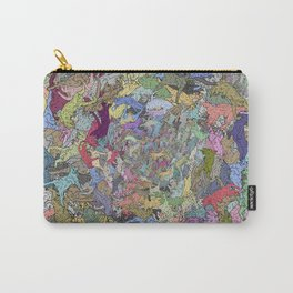 Colorful Flying Cats Carry-All Pouch