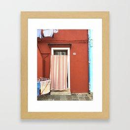 Doorway Series / Burano, Italy / 004 Framed Art Print