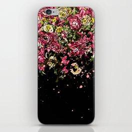 Black drooping flowers iPhone Skin