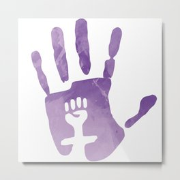 Have your feminist handprint Metal Print
