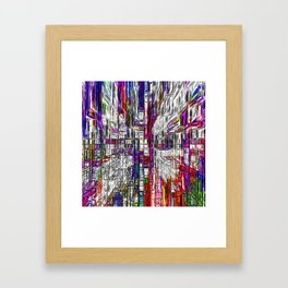Colorful Assemblage Framed Art Print