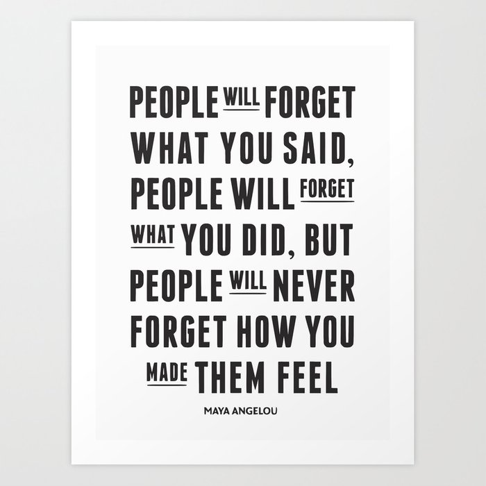 Ill Never Forget You Motivational Quote Art Print By Deanng Society6