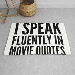 I SPEAK FLUENTLY IN MOVIE QUOTES Rug