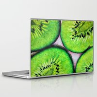 kiwi Laptop & iPad Skins featuring Kiwi by emyemyemyy