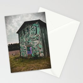 Blue Graffiti Barn Stationery Cards