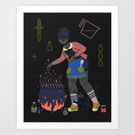 Witch Series: Cauldron Art Print