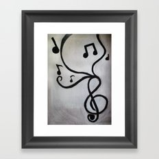 Music Notes Framed Art Print