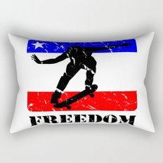 FREEDOM! Skateboarding Rectangular Pillow