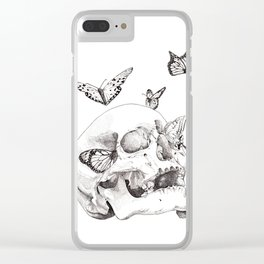 Anxiety Print Clear iPhone Case