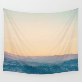 Mountain Sunset Wall Tapestry