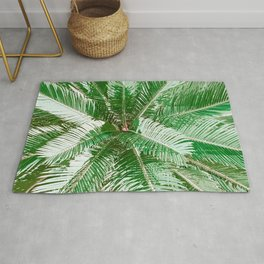 Green Palm Leaves Rug