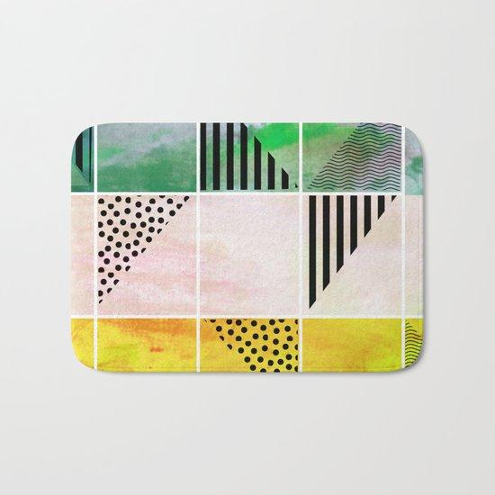 Mosaic Abstract coral Bath Mat
