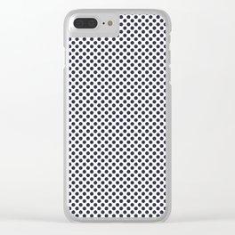 Peacoat Polka Dots Clear iPhone Case