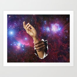 Space Hands Art Print