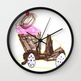 Ice Cream Sundae Dump Truck Wall Clock