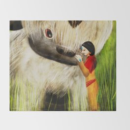 Jinora with Bison Throw Blanket