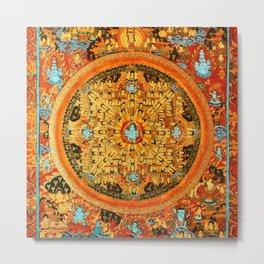 Buddhist Mandala Ashta Bhairava 1 Metal Print