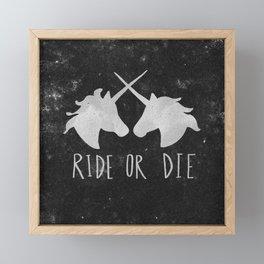 Ride or Die Unicorn Magic Framed Mini Art Print