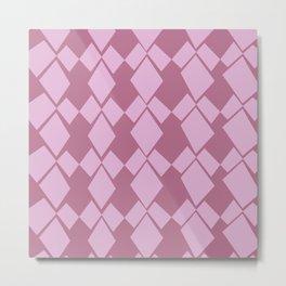 Geometric Diamonds Design (Dusty Rose) Metal Print