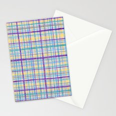 Plaid Pattern Stationery Cards