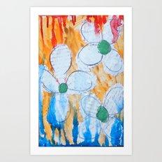 Shy Flowers Art Print