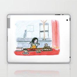 The little girl in orange. The bakery Laptop & iPad Skin