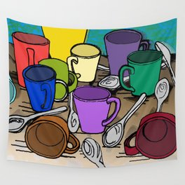 Cups and Spoons Wall Tapestry