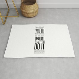 Lab No. 4 - Mahatma Gandhi Inspirational Quotes Poster Rug