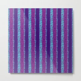 Messy Stripes in Purple, Fuchsia and Blue Metal Print