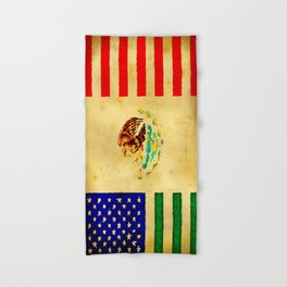 MEXICAN AMERICAN FLAG - 017 Hand & Bath Towel