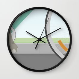 Elephants Can Ride Bicycles Too Wall Clock
