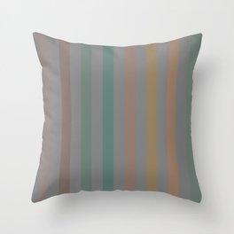 Line pattern 1 - pink , brown , light green , dark green and orange Throw Pillow