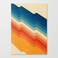 rainbow Canvas Prints featuring Barricade by Tracie Andrews