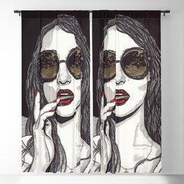 Rose Gold Galsses Blackout Curtain