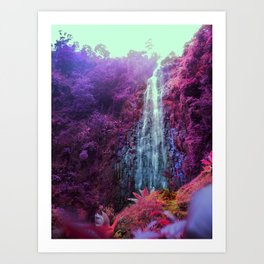 the Sound of Water Fall Art Print