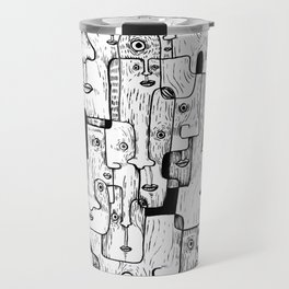Many Faces Travel Mug