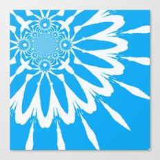 The Modern Flower Sky Blue Canvas Print