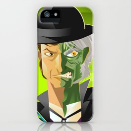 doctor jekyll and mister hyde monster tranformation with green potion iPhone Case