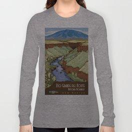 Vintage poster - Rio Grande Del Norte Long Sleeve T-shirt