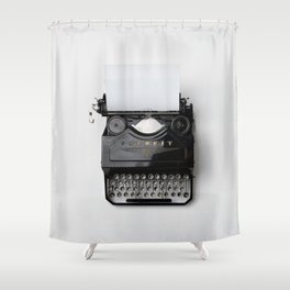 Old fashion typewriter Shower Curtain