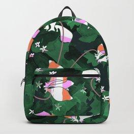 Cyclamen Spring Flowers Print Backpack