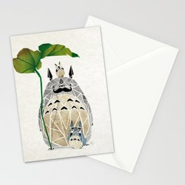 totoro moustache Stationery Cards