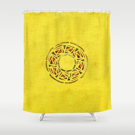 Tribal Fertility God Folk Art Shower Curtain