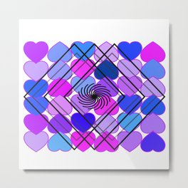 Heart to Heart Metal Print