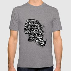 Speak Your Anger Mens Fitted Tee Tri-Grey MEDIUM