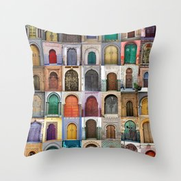 Moorish Doors Montage Throw Pillow