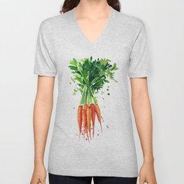 watercolor carrots Unisex V-Neck